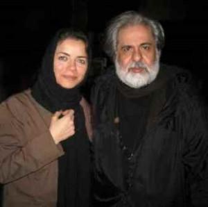 محمد رحمانیان در کنار همسرش مهتاب نصیرپور