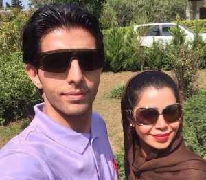 وحید طالب لو و همسرش