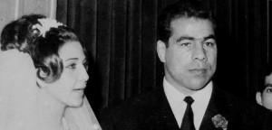 غلامرضا تختی در شب ازدواج کنار شهلا توکلی