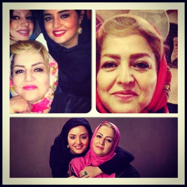 نرگس محمدی و مادرش