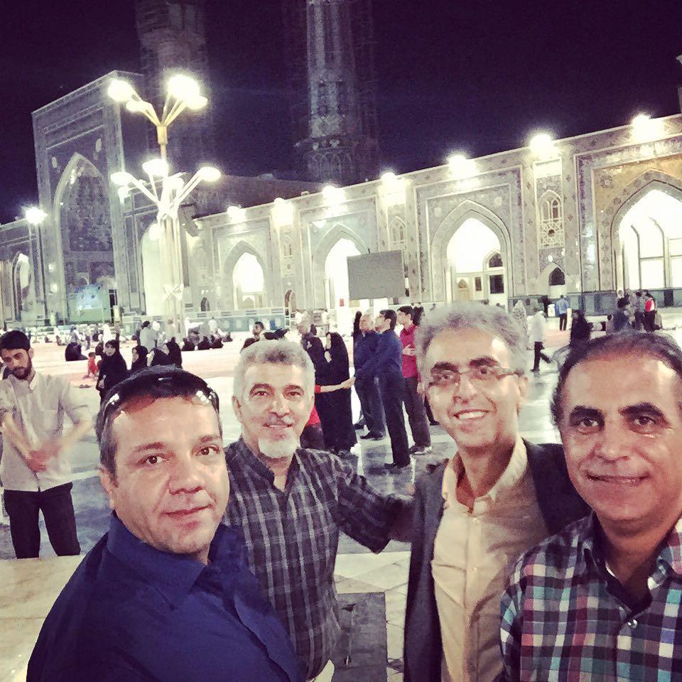 از راست مسعود خادم، رضا رفیع، ظهیری و امیراحمدی