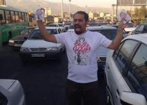 علی ملاقلی پور در خیابانهای تهران