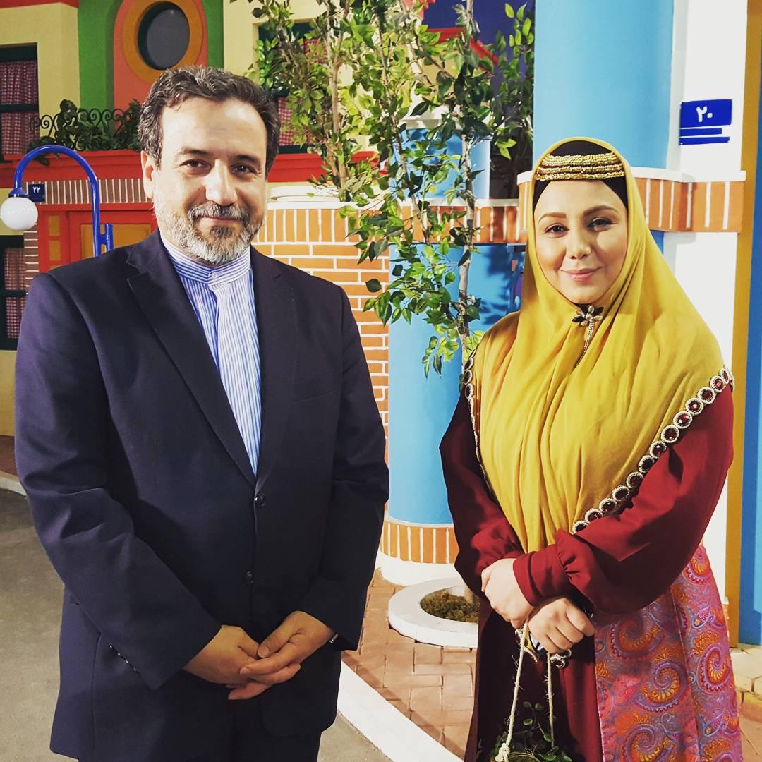 بهنوش بختیاری در کنار عباس عراقچی