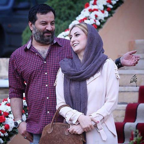 مهراب قاسم خانی و شقایق دهقان روی فرش قرمز