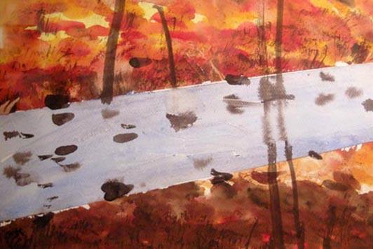 یکی از نقاشیهای مریم حیدرزاده