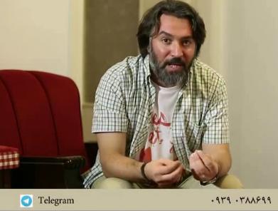کاوه سجادی حسینی در حال توضیح درباره فراخوان بازیگری برای فیلم فرهادی