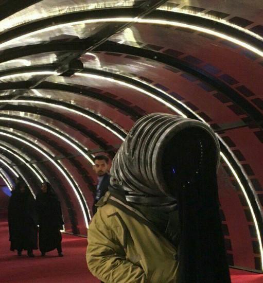 محمد شیروانی با پوشش غیرمتعارفش