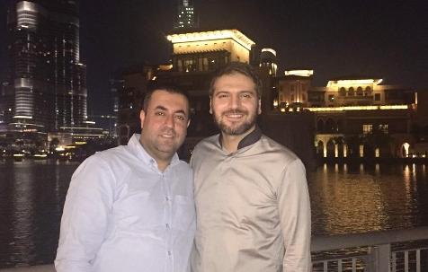 پیام عزیزی و سامی یوسف در دوبی