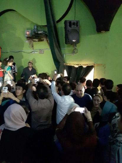 ازدحام در سینما پیروزی مشهد برای دیدار با رضا عطاران