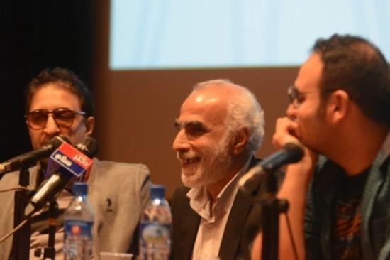 محمدحسین مهدویان، حبیب والی نژاد و امیر قادری در نشست سینماروایت