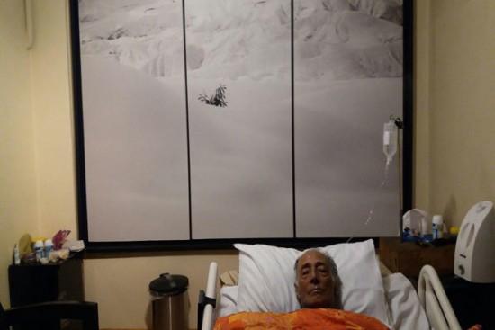 عباس کیارستمی در بستر