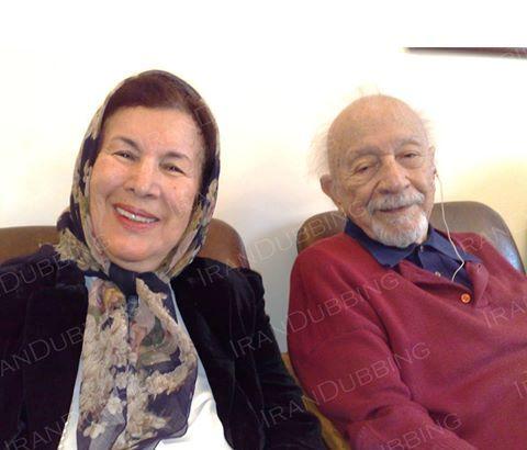 مهین کسمایی در کنار عمویش علی کسمایی