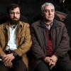 ابراهیم حاتمی کیا و احسان محمدحسنی رییس سازمان هنری-رسانه ای اوج (محمدحسنی جوانی است متولد دهه 60 که ادبیات گفتاریش یادآور فرماندهانیست که سالها در دفاع حضور داشته اند)