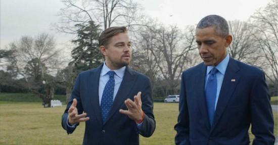 دی کاپریو و اوباما در نمایی از «پیش از سیل»