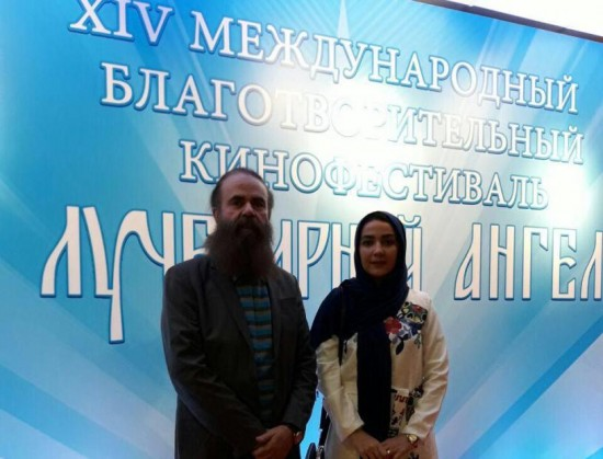 امیرحسین شریفی و سارا صوفیانی در افتتاحیه جشنواره رادیانت انجل