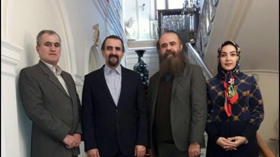 امیرحسین شریفی و سارا صوفیانی در دیدار با سفیر ایران در روسیه