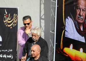 پرویز پرستویی-تشییع ناصر ملک مطیعی