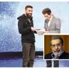 """یوسف منصوری(چپ) داماد اصغر پورمحمدی در پشت صحنه """"ماه من"""""""