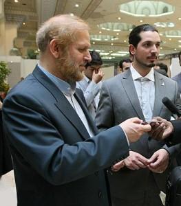 محمدامین رامین در کنار پدرش محمدعلی