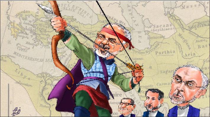 محمدجواد ظریف با شمایل آرش