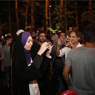 آزاده نامداری و پرویز شهبازی در شب توافق هسته ای