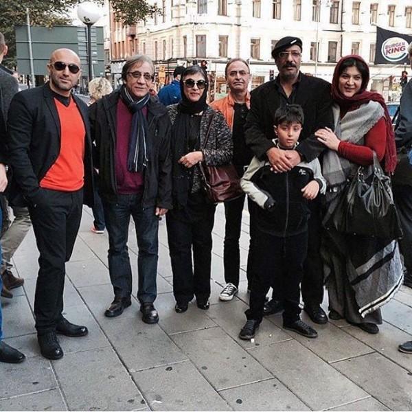 ریما رامین فر، امیر جعفری، رویا تیموریان، مسعود رایگان و محسن تنابنده در سوئد