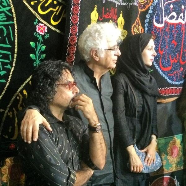 لوریس چکناوریان و محسن شریفیان در مراسم روز عاشورا