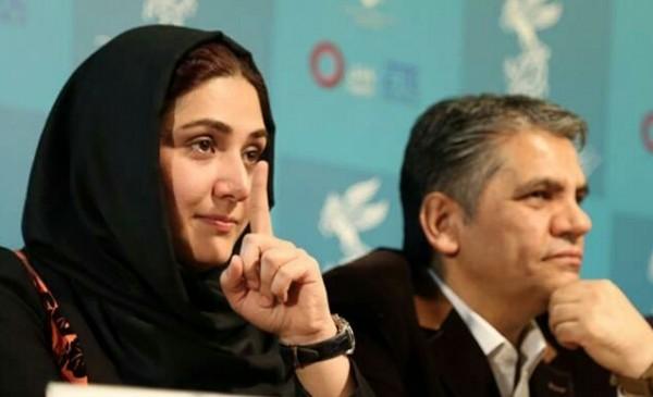 باران کوثری در کنار منصور لشکری قوچانی
