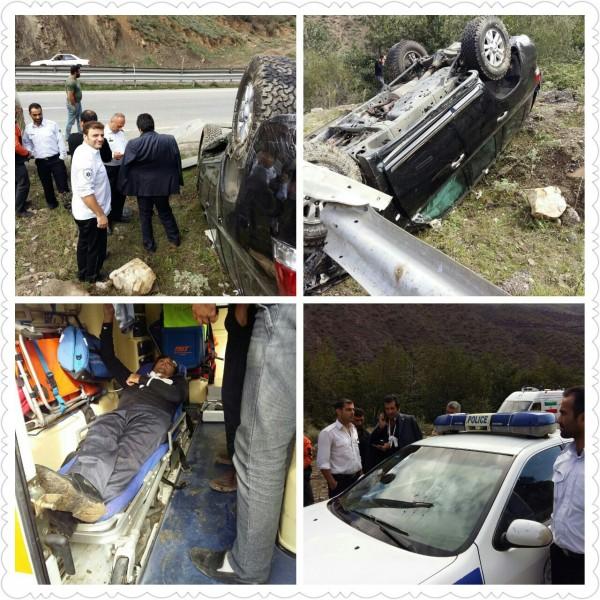 واژگونی خودروی نواب صفوی در جاده شمال