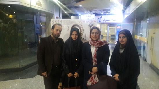 سلفی باران کوثری با مخاطبان در سینما آزادی