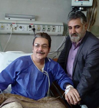 رضا حسین زاده در بیمارستان