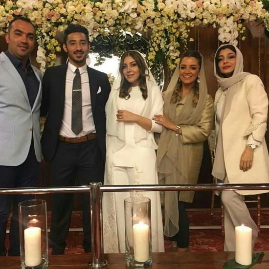 ساره بیات در مراسم ازدواج خواهرش سروین و گوچی