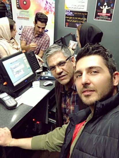 منصور لشکری قوچانی و محمدرضا غفاری در پردیس کوروش