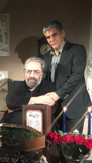 مسعود کیمیایی در کنار منصور لشکری قوچانی