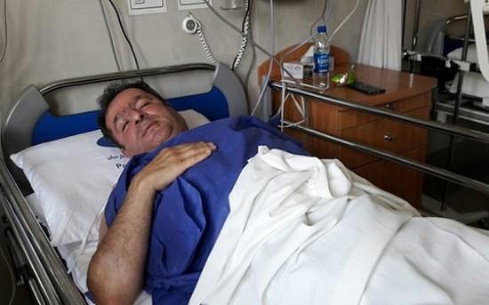 محمود گبرلو در بیمارستان
