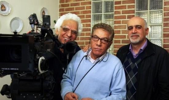 علی قائم مقامی(راست) در کنار علیرضا زرین دست و کیومرث پوراحمد