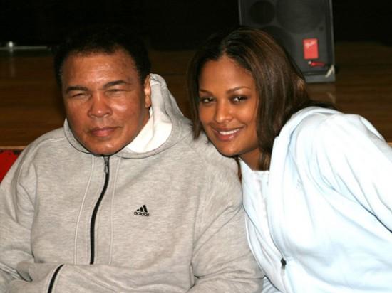 لیلا علی در کنار پدرش محمدعلی کلی