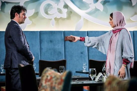 """بهنوش طباطبایی و شهاب حسینی در نمایی از """"لابی"""""""