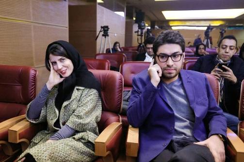 سهیل بیرقی در کنار لیلا حاتمی