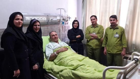 حمید فرخ نژاد در بیمارستان