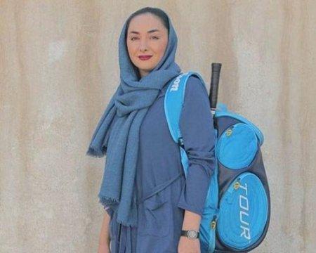 هانیه توسلی بعد از بازگشت از تمرین اسکواش