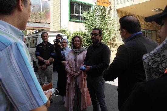 امین امانی و همسرش نگین معتضدی در دیدار با مدیران سیما
